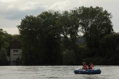 Schlauchboot Sevylor Caravelle K105 ( Gummiboot ) unterwegs auf dem Rhein ( Fluss - River - Hochrhein ) oberhalb Koblenz im Kanton Aargau der Schweiz und Deutschland (chrchr_75) Tags: chriguhurnibluemailch christoph hurni schweiz suisse switzerland svizzera suissa swiss chrchr chrchr75 chrigu chriguhurni 1408 august 2014 hurni140817 gummiboot gummiboote schlauchboot schlauchboote boot jolle dinghy boat jolla canot  sloep bote albumschlauchbootegummibooteunterwegsinderschweiz sevylor caravelle k105 albumschlauchbootsevylorcaravellek105 august2014 rhein rhin reno rijn rhenus rhine rin strom europa albumrhein fluss river joki rivire fiume  rivier rzeka rio flod ro