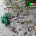 Marine trash - homemade fish net