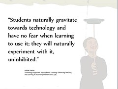 "Educational Postcard:  ""Students gravitate towards technology"" (Ken Whytock) Tags: school students education technology experiment learning teaching naturally inquiry nofear uninhibited gravitate"