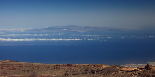 gran canaria from pico teide