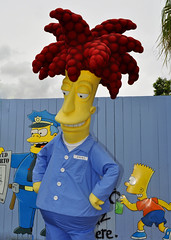 Sideshow Bob (littlestschnauzer) Tags: park summer usa orlando nikon holidays ride florida character parks bob simpsons resort theme universal studios meet sideshow greet attraction 2014 d5000