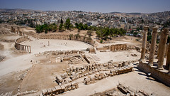 The ruins of the Greco-Roman city of Gerasa, Jerash, Jordan