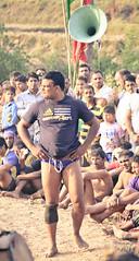 announcing the wrestler ([s e l v i n]) Tags: india men sports fight village muscle wrestling battle fighting punjab combat wrestle indianmen kushti indianwrestling pehlwan selvin indiankushtiwrestling