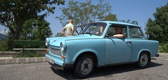 Me in Trabboe (Landie_Man) Tags: old 2 car fun stroke communist soviet excellent trabant trabbie duraplast