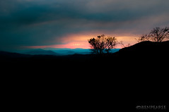 Creation (benpearse) Tags: blue sunset mountains silhouette photography colours photographer ben creation valley megalong pearse