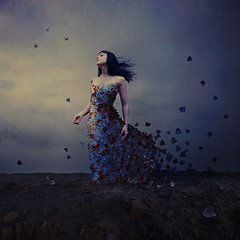 breathing life (brookeshaden) Tags: painterly texture nature leaves feminine surrealism squareformat powerful mothernature whimsical fineartphotography darkart motherly barrenlandscape conceptualphotography fairytalephotography leafdress brookeshaden