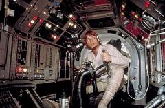 Luke looking for targets (Tom Simpson) Tags: film vintage starwars lukeskywalker behindthescenes gunner millenniumfalcon markhamill gunport