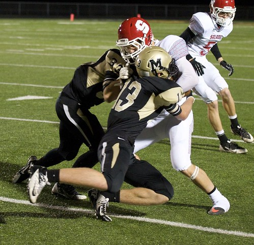 """Tackle vs. Salado. Freshman year. • <a style=""""font-size:0.8em;"""" href=""""http://www.flickr.com/photos/38444578@N04/14963290907/"""" target=""""_blank"""">View on Flickr</a>"""