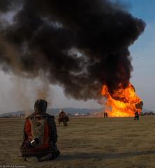 20140829-BRC_2014-172 (level twenty three) Tags: bw art yellow portraits fire desert nevada playa burningman blackrockcity brc blackrock burningman2014