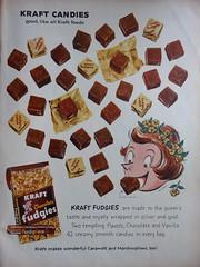 Insane Whitney Darrow cartoon (Piemouth) Tags: life vintage ads candy 1959 kraft fudgies