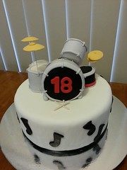 Drum Kit Cake GYCO (Get Your Cake On WA) Tags: music white black cake drums drum 18th kit noise cymbols