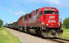 Red Zone (Trainham) Tags: train canadianpacific irene sooline cp soo kirkland 272 manifest sd60 kirklandillinois savannaillinois emdsd60 chicagosubdivision soo6046 ireneroad soo6044 cpchicagosubdivision bensonvilleillinois