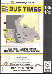 Merseytravel (Wirral) Timetable Route #186, 184 (From 29th May 1994) (Luke O'Rourke) Tags: merseytravel merseybus liverpool wirral westkirby birkenhead birkenheadwoodside crosville timetable timetables newbrighton bromborough bus