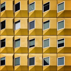 'East of the Sun' (Paul Brouns) Tags: abstract holland building netherlands colors lines yellow architecture square paul utrecht pattern patterns squareformat rhythm repitition brouns urbanpatterns iphoneography instagramapp uploaded:by=instagram paulbrouns foursquare:venue=4d5b7bc5b77a8cfa4e77d118 paulbrounscom