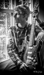 Dallas (Secorgardens) Tags: portrait blackandwhite bw nikon guitar d90