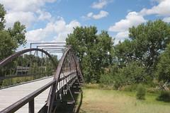 North Platte river bridge (•Nicolas•) Tags: 2014 america blue cloud cloudy forest holidays nature roadtrip sky tree unitedstates usa nicolasthomas