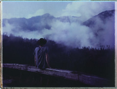 It Was All Quiet (Bastiank80) Tags: camera mountains color film nature analog was all quiet fuji hiking being foggy large it explore pack human instant 4x5 format feeling wilderness expired ebony summits fp100c45 bastiank sv45ti schindelkopf