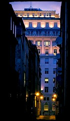 Martins Bank Building from Lower Castle Street, Liverpool. (philipgmayer) Tags: martinsbank barclaysbank waterstreet liverpool night listed gradeii rowse 1000