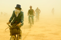 312. In Dust We Trust (prenetic) Tags: people storm sunglasses sand suits pants nevada wheels goggles hats playa bicycles burningman blackrockcity masks bm bags dust duststorm bm2014 burningman2014