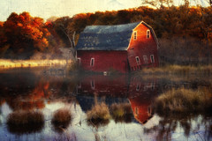 Another Name For Home (karenhunnicutt) Tags: autumn home sunrise pond mn zimmerman minneapolisphotographer karenhunnicutt karenmeyer karenhunnicuttphotography karenhunnicuttphotographycom minneapolisfineart sinkingbarn infamousbarn zimmermanbarn
