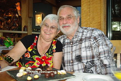 Still together after 50 years (Sim-tov) Tags: vacation portrait holiday restaurant golden bay la inn bc anniversary celebration meal cox tofino pointe aug bubbe 2014 zaide wickannish