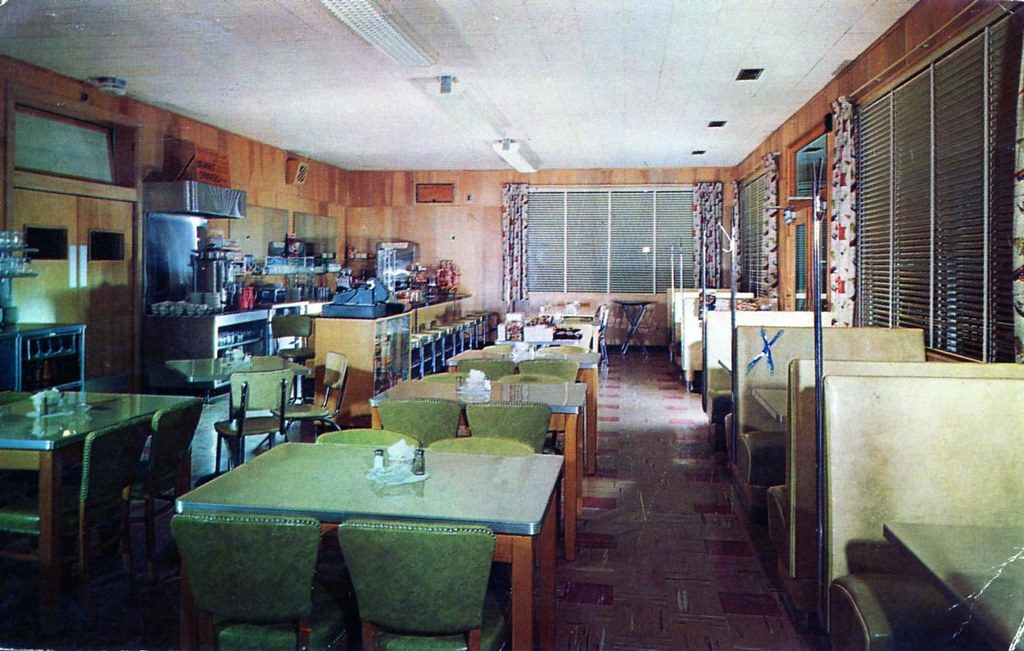 shirkeys restaurant winchester_va edge and corner wear tags vintage tile restaurant pc counter - Linoleum Restaurant Interior