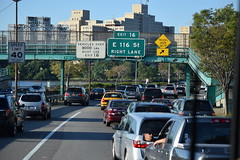 FDR Drive (gdd814) Tags: road street new york city nyc travel urban bus cars sign nikon traffic iso rush hour freeway 100 roads vr fdr dx southbound 55200mm d3300