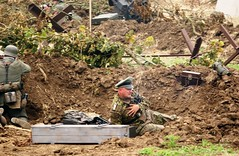Wounded (MJ_100) Tags: infantry germany army military wwii battle german ww2 soldiers heer reenactment troops reenactors secondworldwar 2014 wehrmacht victoryshow