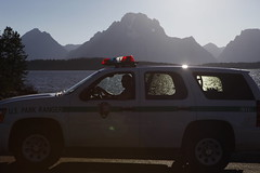 The Fuzz (orng.juce) Tags: ranger tahoe chevy wyoming nationalparkservice jacksonlake mtmoran