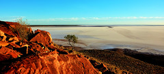 Outback SA-9 HD Wallpapaper HD Widescreen - P1250801 wm (cleansurf2) Tags: blue red wallpaper panorama white lake rock landscape desert widescreen salt australia hires baren outback hd hdr 19