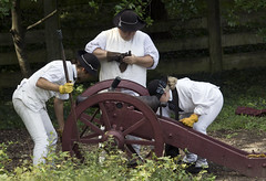 Colonial Williamsburg Virginia   militia military cannon fire firing (watts_photos) Tags: colonial williamsburg virginia militia military cannon fire firing