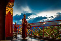 Namobuddha Tibetan Monastery - Nepal (Roberto Farina Travel Photography) Tags: monk asia katmandu nepal eos5dmark3 sky clouds red religion tibetan buddhism