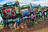 Cadillac Ranch (Pragmatic1111) Tags: color red blue orange yellow purple green cadillac cadillacranch colorful art nikon d700 70200mmf28 car automobiles texas amarillo hdr transportation tire metal pink white