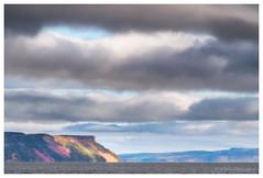 Spotlight on Cape Blomidon (Fundy Rocks) Tags: novascotia blomidon capeblomidon minasbasin stormclouds cloudsstormssunsetssunrises spotlight dramatic weather canada fundyrocks wwwfacebookcomfundyrocks autumn fall seascape landscape evangelinebeach landofevangeline