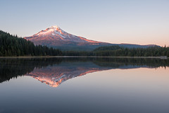 Kiss of Dusk II Trillium Lake, USA (Gabriela Fulcher Photography) Tags: trillium lake mount mt hood oregon sunset color reflection peaceful serene quiet
