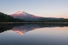 Kiss of Dusk II Trillium Lake, USA (Gabriela Fulcher Photography) Tags: trillium lake mount mt hood oregon sunset color reflection peaceful serene quiet