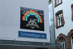 Space Invader BSL_03 (ratskaweiller) Tags: space spaceinvaders streetart invaders invader invaderwashere bale basel suisse switzerland rainbow arcenciel
