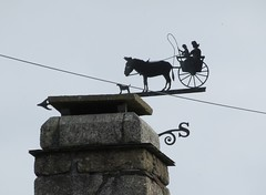 Weathervane horse and cart with dog, possibly a Governess cart IMG_8800 (rowchester) Tags: weathervane horse cart governess dog