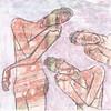 # 308 (03-11-2016) (h e r m a n) Tags: herman illustratie tekening bock oosterhout zwembad 10x10cm 3651tekenevent tegeltje drawing illustration karton carton cardboard drievrouwen threewomen body nude naked vrouw woman beeldbad 2016
