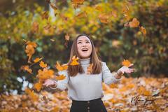 Juggling Leaves of Autumn (MarceeTenorioPhotography) Tags: autumnportraits 70200mmf28 canon5dmarkiii marceetenoriophotography marceetenorio