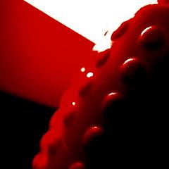 stop making sense (vertblu) Tags: red white black dots plastic histoiresd abstract abstrakt abstraction plasticbottle 500x500 bsquare macromode macro makro texture texturesquared textur pattern vertblu diagonal minimalismus minimal minimalism monochrome