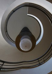 Staircase DNA (Compactman) Tags: bexhill delawarr spiral staircase light lighting spiraling artdeco indoor hanging upshot panasonic lumix g7