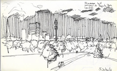 Primerose hill (Andrs Goi :: www.andresgoni.cl) Tags: sketch croquis dibujo arquitectura lapiz mano handwrite architecture europa inglaterra england london train tren italy italia florencia firenze sienna