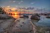 Nongsa Resort beach sunset (2nd last shot) (Ken Goh thanks for 2 Million views) Tags: nongsa resort beach boats sunset golden sun blue sky reflection water moving clouds smooth silhouette pentax k1 sigma 1020