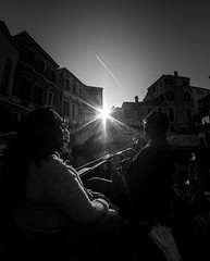In the moment (Js473) Tags: venice vacation destination italy honeymoon canal ride gondola sunset blackandwhite couple mood rimlight sun jasonstewartphotography