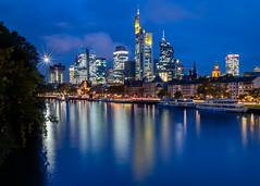 Mainhattan Blue (USpecks_Photography) Tags: frankfurt frankfurtammain mainhattan main germany reflection financialcenter city urban bluehour blue