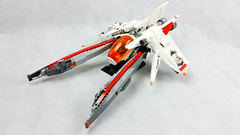 Perun class Vic Viper. Now is legal with dorsal tail. (Brick Martil) Tags: lego toy vic viper space spaceship starfighter