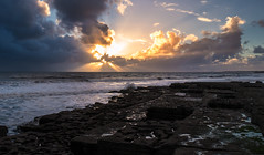 Light at the Storms Edge (scamart1st) Tags: sun rays water coast beach wales uk clouds seascape