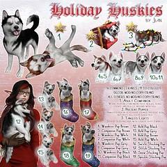Holiday Huskies @ The Arcade December 2016 ([JIAN]) Tags: secondlife mesh pet animal dog dogs canine companion husky huskies holiday christmas festive puppy pups jian