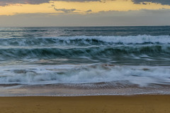 Cloudy sunrise at Ocean Beach (Merrillie) Tags: uminabeach landscape nature australia nswcentralcoast newsouthwales sea longexposure nsw dawn beach ocean centralcoastnsw outdoors sunrise photography seascape oceanbeach waterscape water centralcoast waves clouds